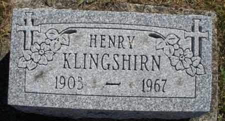 KLINGSHIRN, HENRY - Darke County, Ohio | HENRY KLINGSHIRN - Ohio Gravestone Photos