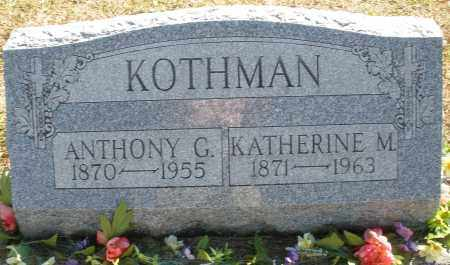 KOTHMAN, ANTHONY G. - Darke County, Ohio | ANTHONY G. KOTHMAN - Ohio Gravestone Photos