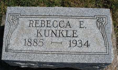 KUNKLE, REBECCA E. - Darke County, Ohio | REBECCA E. KUNKLE - Ohio Gravestone Photos