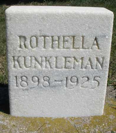 KUNKLEMAN, ROTHELLA - Darke County, Ohio | ROTHELLA KUNKLEMAN - Ohio Gravestone Photos