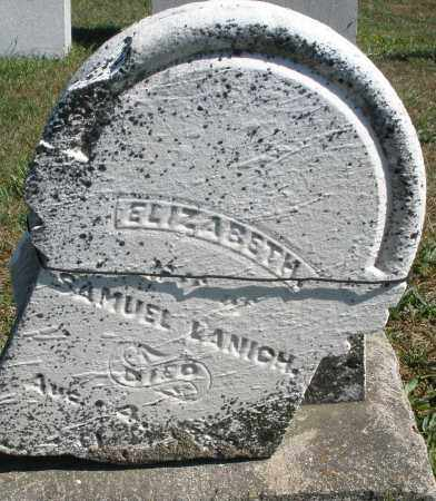 LANICH, ELIZABETH - Darke County, Ohio | ELIZABETH LANICH - Ohio Gravestone Photos