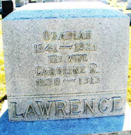 LAWRENCE, CAROLINE R. - Darke County, Ohio | CAROLINE R. LAWRENCE - Ohio Gravestone Photos