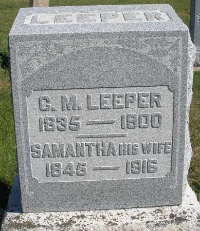 LEEPER, C.M. - Darke County, Ohio | C.M. LEEPER - Ohio Gravestone Photos