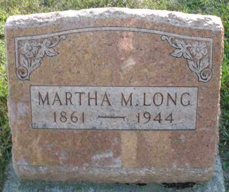 LONG, MARTHA M. - Darke County, Ohio   MARTHA M. LONG - Ohio Gravestone Photos