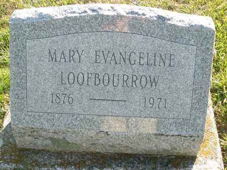 LOOFBOURROW, MARY EVANGELINE - Darke County, Ohio | MARY EVANGELINE LOOFBOURROW - Ohio Gravestone Photos