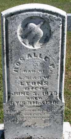 LYONS, ROSALLE P, - Darke County, Ohio | ROSALLE P, LYONS - Ohio Gravestone Photos