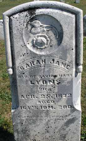 LYONS, SARAH JANE - Darke County, Ohio | SARAH JANE LYONS - Ohio Gravestone Photos