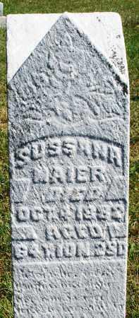 MAIER, SUSSANA - Darke County, Ohio   SUSSANA MAIER - Ohio Gravestone Photos