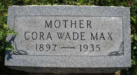 MAX, CORA - Darke County, Ohio | CORA MAX - Ohio Gravestone Photos