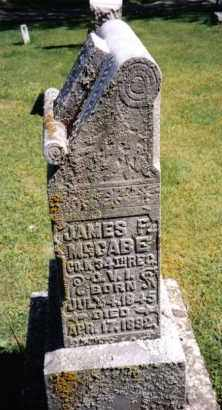 MCCABE, JAMES F. - Darke County, Ohio   JAMES F. MCCABE - Ohio Gravestone Photos