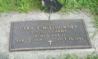 MCELDOWNEY, CYRIL F. - Darke County, Ohio   CYRIL F. MCELDOWNEY - Ohio Gravestone Photos
