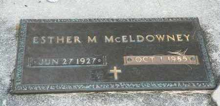 MCELDOWNEY, ESTHER M. - Darke County, Ohio | ESTHER M. MCELDOWNEY - Ohio Gravestone Photos