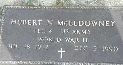 MCELDOWNEY, HUBERT N. - Darke County, Ohio | HUBERT N. MCELDOWNEY - Ohio Gravestone Photos