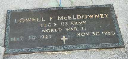 MCELDOWNEY, LOWELL F. - Darke County, Ohio | LOWELL F. MCELDOWNEY - Ohio Gravestone Photos