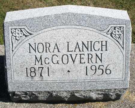 MCGOVERN, NORA - Darke County, Ohio | NORA MCGOVERN - Ohio Gravestone Photos