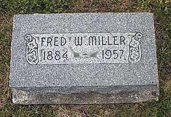 MILLER, FREDERICK WALTER - Darke County, Ohio   FREDERICK WALTER MILLER - Ohio Gravestone Photos