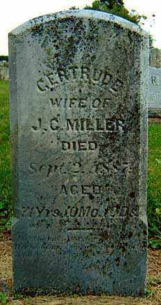 MILLER, GERTRUDE - Darke County, Ohio | GERTRUDE MILLER - Ohio Gravestone Photos