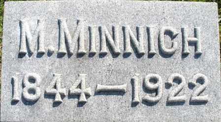 MINNICH, M. - Darke County, Ohio   M. MINNICH - Ohio Gravestone Photos