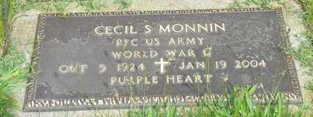 MONNIN, CECIL S. - Darke County, Ohio | CECIL S. MONNIN - Ohio Gravestone Photos