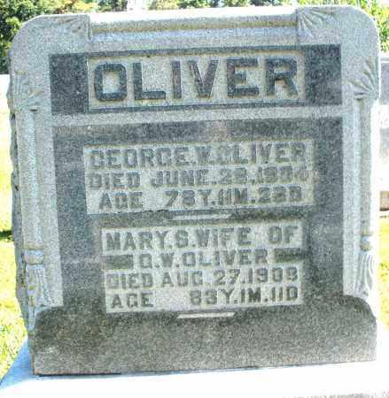 OLIVER, GEORGE W. - Darke County, Ohio   GEORGE W. OLIVER - Ohio Gravestone Photos