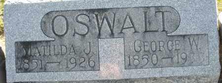 OSWALT, GEORGE W. - Darke County, Ohio | GEORGE W. OSWALT - Ohio Gravestone Photos