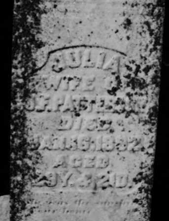 PATTERSON, JULIA - Darke County, Ohio | JULIA PATTERSON - Ohio Gravestone Photos