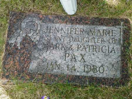 PAX, JENNIFER MARIE - Darke County, Ohio   JENNIFER MARIE PAX - Ohio Gravestone Photos