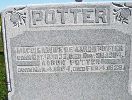 POTTER, AARON - Darke County, Ohio | AARON POTTER - Ohio Gravestone Photos