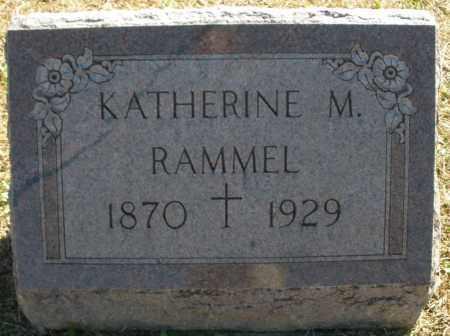 RAMMEL, KATHERINE M. - Darke County, Ohio | KATHERINE M. RAMMEL - Ohio Gravestone Photos