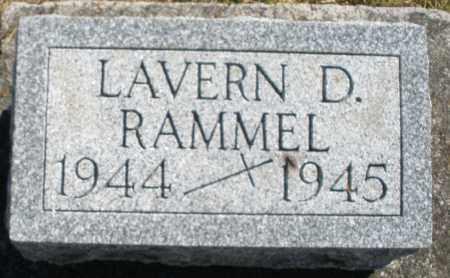 RAMMEL, LAVERN D. - Darke County, Ohio | LAVERN D. RAMMEL - Ohio Gravestone Photos