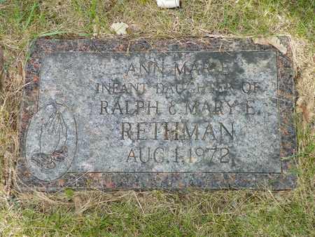 RETHMAN, ANN MARIE - Darke County, Ohio | ANN MARIE RETHMAN - Ohio Gravestone Photos
