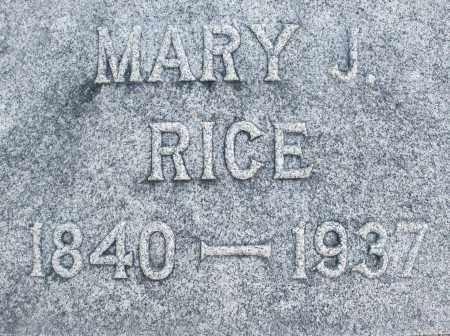 RICE, MARY J. - Darke County, Ohio | MARY J. RICE - Ohio Gravestone Photos
