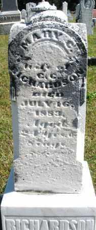 RICHARDSON, MARY C. - Darke County, Ohio   MARY C. RICHARDSON - Ohio Gravestone Photos