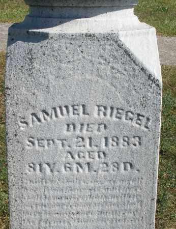 RIEGEL, SAMUEL - Darke County, Ohio   SAMUEL RIEGEL - Ohio Gravestone Photos