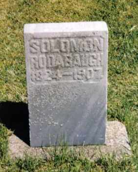 RODABAUGH, SOLOMON - Darke County, Ohio | SOLOMON RODABAUGH - Ohio Gravestone Photos