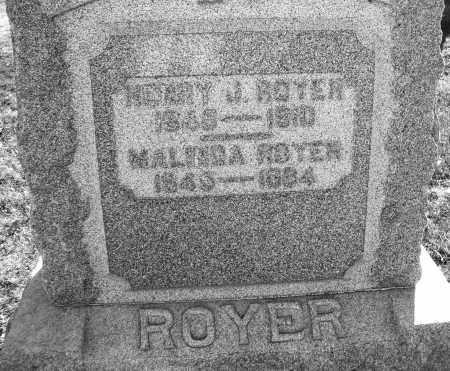 ROYER, HENRY J. - Darke County, Ohio | HENRY J. ROYER - Ohio Gravestone Photos