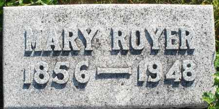 ROYER, MARY - Darke County, Ohio | MARY ROYER - Ohio Gravestone Photos