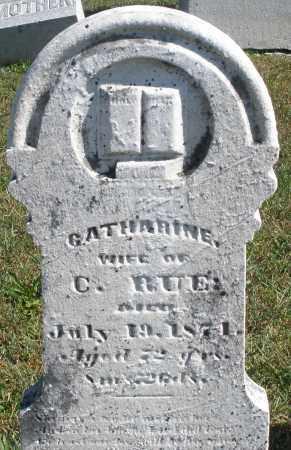 RUE, CATHARINE - Darke County, Ohio | CATHARINE RUE - Ohio Gravestone Photos