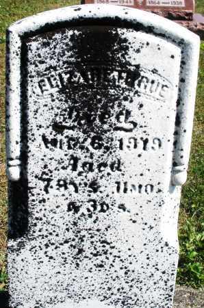 RUE, ELIZABETH - Darke County, Ohio | ELIZABETH RUE - Ohio Gravestone Photos