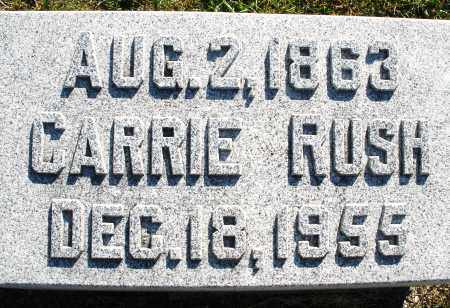 RUSH, CARRIE - Darke County, Ohio | CARRIE RUSH - Ohio Gravestone Photos