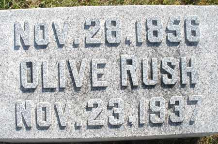 RUSH, OLIVE - Darke County, Ohio | OLIVE RUSH - Ohio Gravestone Photos