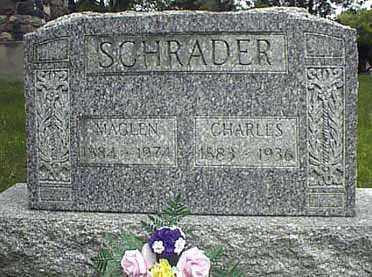 SCHRADER, MAGLEN - Darke County, Ohio | MAGLEN SCHRADER - Ohio Gravestone Photos