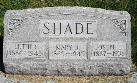 SHADE, LUTHER - Darke County, Ohio | LUTHER SHADE - Ohio Gravestone Photos