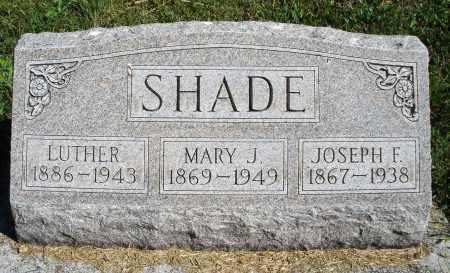 SHADE, JOSEPH F. - Darke County, Ohio | JOSEPH F. SHADE - Ohio Gravestone Photos
