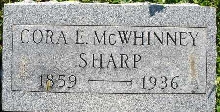 MCWHINNEY SHARP, CORA E. - Darke County, Ohio   CORA E. MCWHINNEY SHARP - Ohio Gravestone Photos