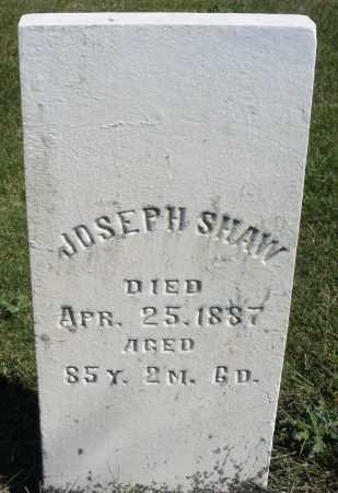 SHAW, JOSEPH - Darke County, Ohio   JOSEPH SHAW - Ohio Gravestone Photos