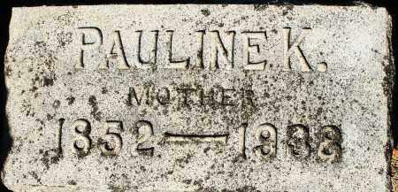 SHEWMON, PAULINE K. - Darke County, Ohio   PAULINE K. SHEWMON - Ohio Gravestone Photos
