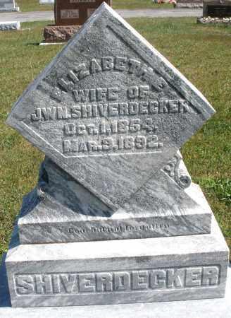 SHIVERDECKER, ELIZABETH E. - Darke County, Ohio   ELIZABETH E. SHIVERDECKER - Ohio Gravestone Photos