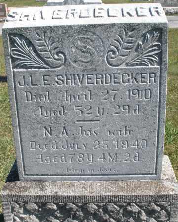 SHIVERDECKER, J.L.E. - Darke County, Ohio | J.L.E. SHIVERDECKER - Ohio Gravestone Photos