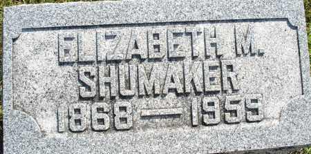SHUMAKER, ELIZABETH M. - Darke County, Ohio | ELIZABETH M. SHUMAKER - Ohio Gravestone Photos